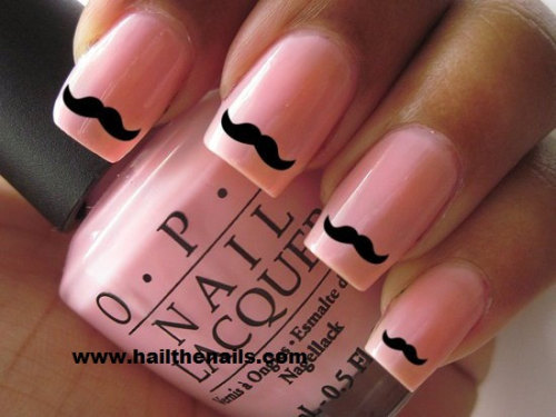 wickedclothes:  Black Mustache Nail Transfers. Sold on Etsy.
