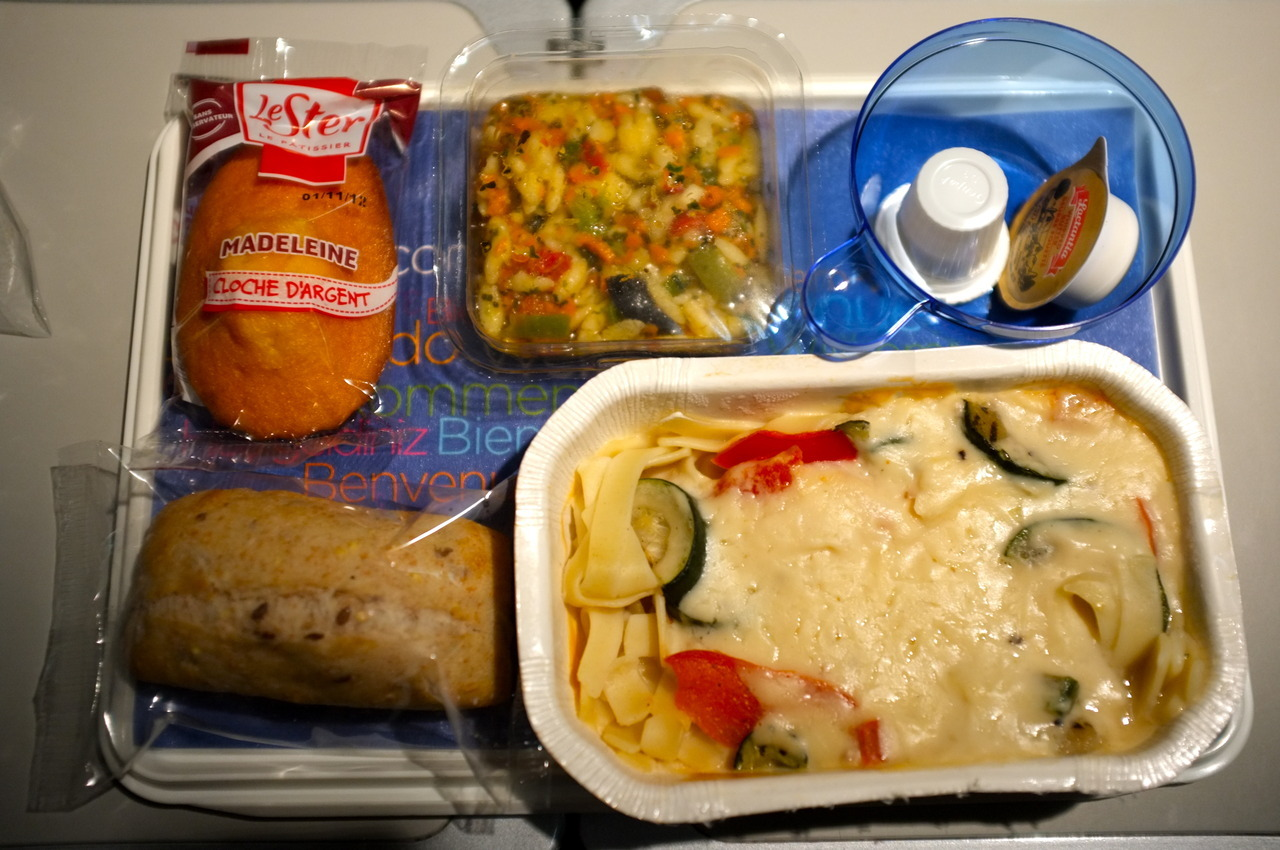 Air Transat Vegetarian Dinner / Flight No. TS 510 / Montreal, QC to Paris, FR.Fujifilm Finepix X100.29 June 2012.