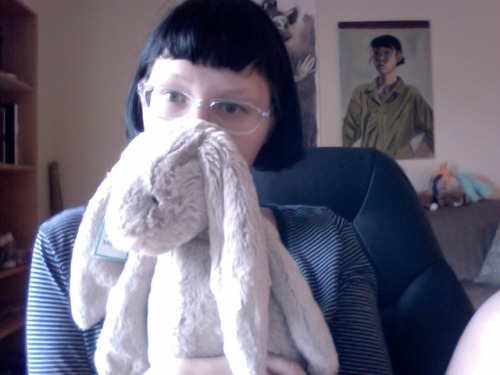 I bought a jellycat bunny today. I like it when someone creates quality stuffed animals that aren't over stuffed or have an itchy fabric. Jellycat nails it! Now only if I could get ahold of their stuffed cat.