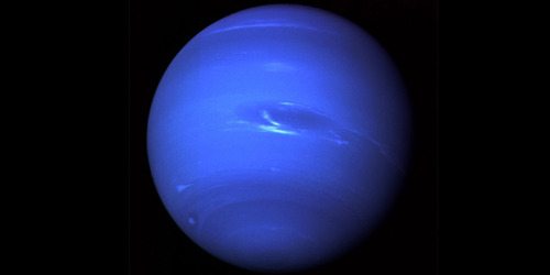 Did you know: Neptune takes 165 Earth years to get around the Sun. It appears blue because it is made of methane gas.More on Neptune here…