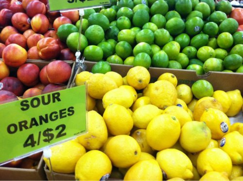 "Lemons Labeled ""Sour Oranges"" No thanks, I'll just stick with my sweet lemons."