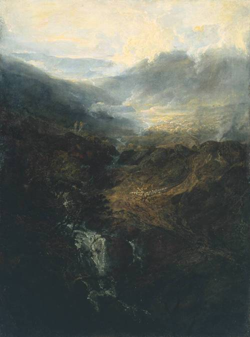 thorsteinulf:  Joseph Mallord William Turner - Morning amongst the Coniston Fells, Cumberland (1798)