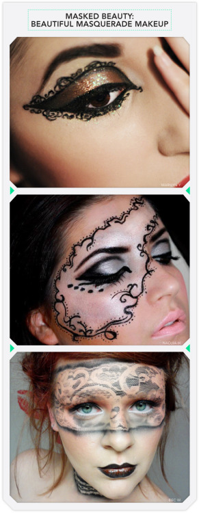 beautylish:  Forget masquerade balls, we'd use any excuse to try these stunning painted masks.   tempted to try