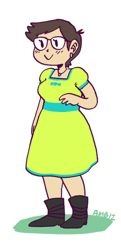Had to draw myself in that dress from Zam's dress-up thing b/c like helloooo super cute