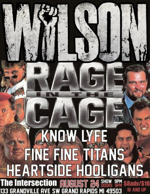 wilsonrock:  RAGE THE CAGE! Grand Rapids, MI this Friday (8/24) @ The Intersection  ALL YOU GRAND RAPIDIANS! Come and throw yourself into the walls with us.