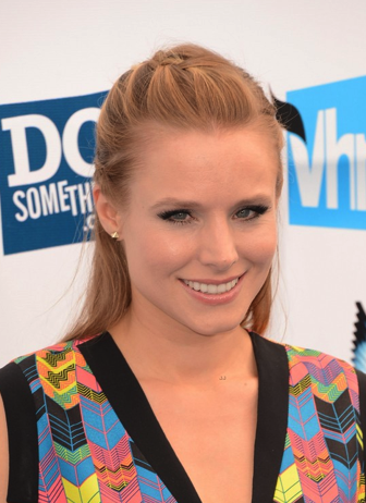Kristen Bell - Red Hair Thoughts? She is beautiful but I prefer when she has blonde hair.  Maybe it's just this shade of red that I am not super into.  I would love to see a deep dark red on her, that would really make her eyes pop!