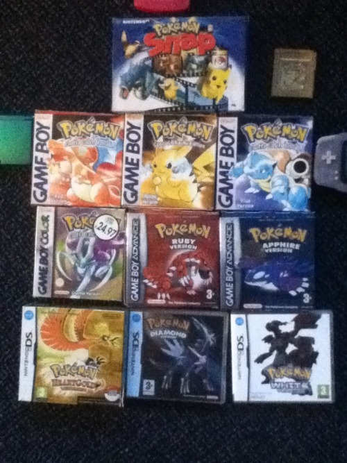 Hope my followers don't mind a few Pokemon related posts too.. I own so much Pokemon merch from the 90's/early 2000's and might start posting pics of stuff. :) (I used to own Pokemon Pearl and a mystery dungeon game but sold them)