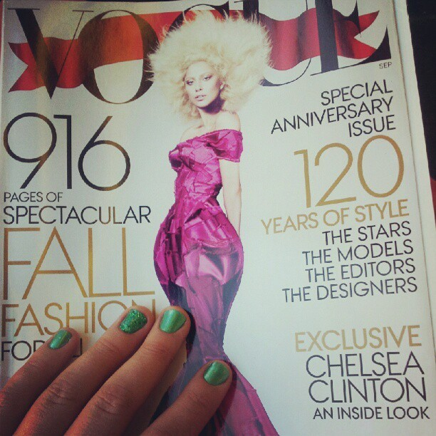 A very Gaga September issue (& a very excited reader) (Pris avec Instagram)