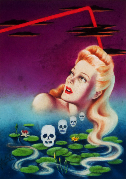 Murder with Long Hair, Atlas Mystery digest cover by Cardwell Higgins, 1944