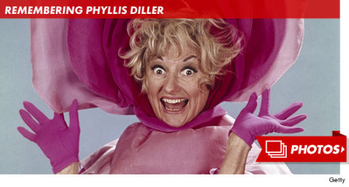 laughingsquid:  Phyllis Diller, Legendary Comic Dies at 95  [Phyllis Diller is as undoubtedly pivotal to comedy as she is to regional history. Diller made the Bay her home in her early career and is a large proponent of the legendary Purple Onion. Over her 50+ career she remained unmatched as a queen of comedy, keeping up her deprecating wit and classic crass longer and stronger than anyone else. We'll miss you Miss Diller. You are beautiful.]