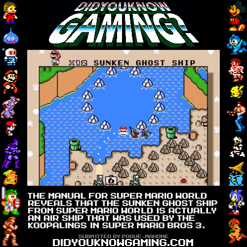 didyouknowgaming:  Super Mario World.