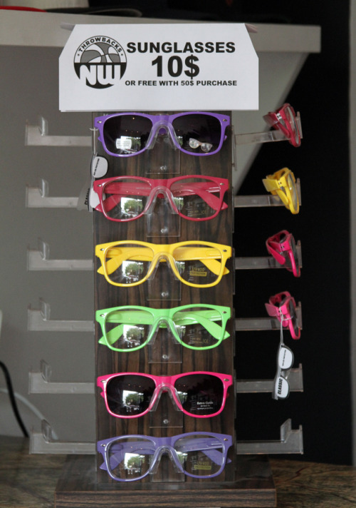 throwbacksnw:  Going on now! Spend 50$ get a free pair of sunglasses! (in-store only) #TBNW #summer