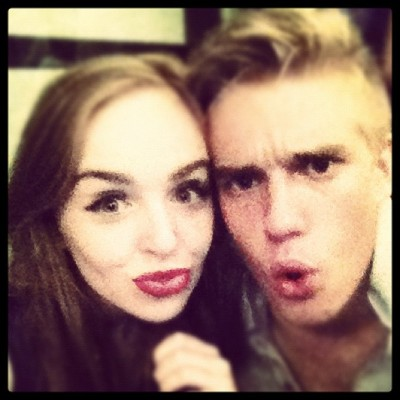Reunited with Bobby!! #wolfbloodcbbc #houseofanubis @bllockwood - @louisaconnollyburnham- #webstagram