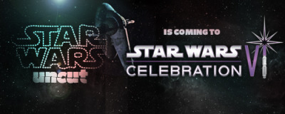 "starwarsuncut:  We're going to Celebration VI! It's happening faster than you can say ""Homemade Trash Can R2D2."" All you fellow nerds going to this year's Celebration VI: check out the official Star Wars Uncut event on Thursday, where we will be screening the full Director's Cut and talking about the project. Casey & Casey will be at the Star Wars Uncut table all weekend - come hang out with us! We've love to meet all fans who uploaded a scene and any fans interested in future Uncuts. Or any fans. Fans fans fans. We <3 fans. Ready set CELEBRATE."