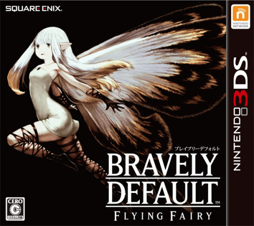tinycartridge:  Bravely Default: Flying Fairy's packaging art is just as unconventional as its name. Then again, if this 3DS RPG wasn't so weird / curious, we probably wouldn't be talking about it here as much as we have. Preorder import: Bravely Default: Flying Fairy See also: More Bravely Default media/news [Via Sylver]   Gosh dang we will NEVER get that box art…  oh well, I'll just print it out and stick it on my copy.
