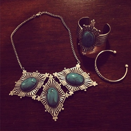 Dudine's gorgeous, Mexican-inspired jewelry, snapped by Glamour editor Rachael Wang.