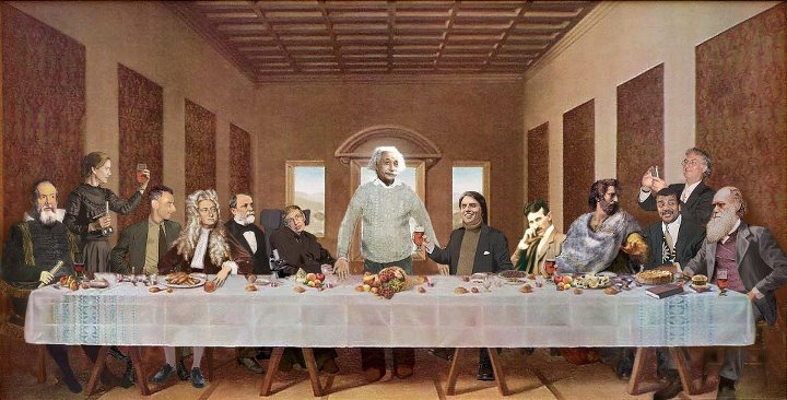 Looks like science and reason have taken over the last supper.  Thank you the-clash-at-demonhead for submitting.