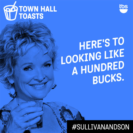 Here's to looking like a hundred bucks.  #SullivanandSon on TBS - New Series Thursdays at 10/9c