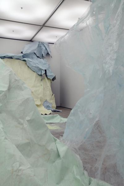 artspotting:  Karla Black, Turner Prize: Baltic Centre for Contemporary Art, (installation view), 2011, Gateshead, UK   via Modern Art