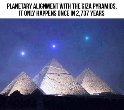 astronomer-in-progress:  Planetary alignment pyramid scheme Seen this pic going viral on Facebook and other social media? It purports to show a planetary alignment over the Giza pyramids. Yeah, the thing is: not so much. Read More