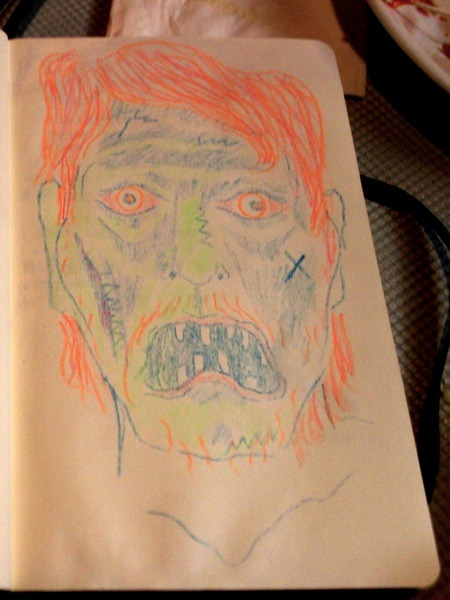 Here's a picture King Tuff drew of a face.   And here's a good time song he made. It's from his eponymous sophomore album which he released, last May.