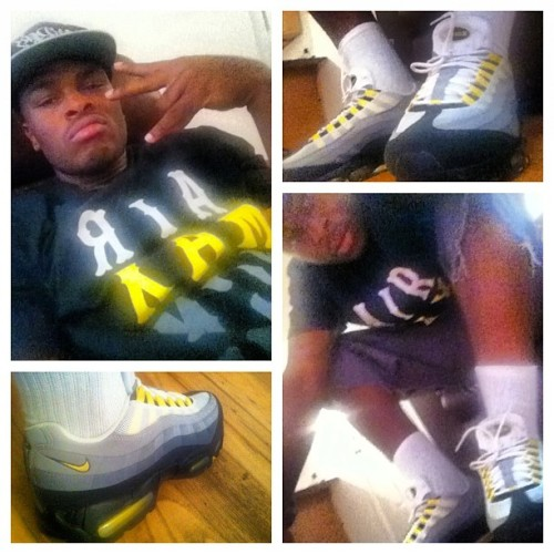 95 Air Max cause ima Dope Runna #SwaGgy #SneakerGang  (Taken with Instagram)