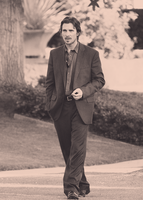 "Christian Bale - filming ""Knights of Cups"""