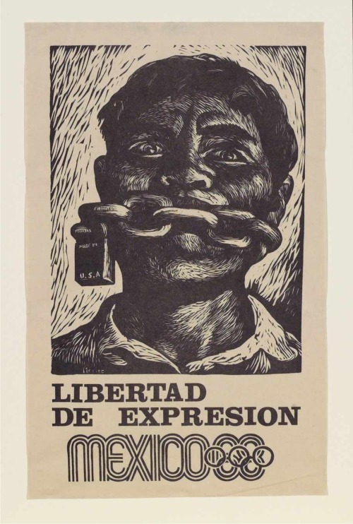 """Liberty of Expression"" Poster issued in support of student protests before Mexico City Olympic Games 1968 by Adolfo Mexiac Calderón The Tlatelolco massacre, also known as The Night of Tlatelolco (from a book title by the Mexican writer Elena Poniatowska), was a governmentmassacre of student and civilian protesters and bystanders that took place during the afternoon and night of October 2, 1968, in the Plaza de las Tres Culturas in the Tlatelolco section of Mexico City. The violence occurred ten days before the 1968 Summer Olympics celebrations in Mexico City. While at the time, government propaganda and the mainstream media in Mexico claimed that government forces had been provoked by protesters shooting at them, government documents that have been made public since 2000 suggest that the snipers had in fact been employed by the government."