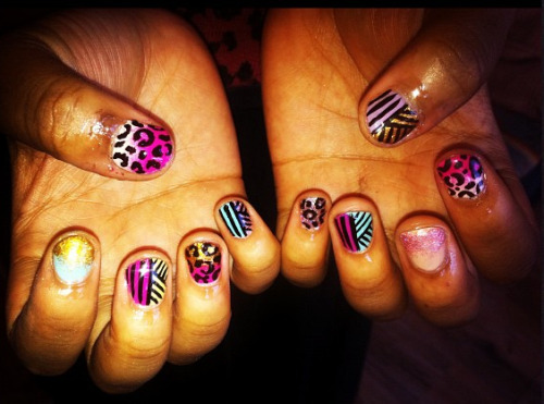 Nails I did for The Wonder Box. Bit obsessed with crazy candy at the moment.