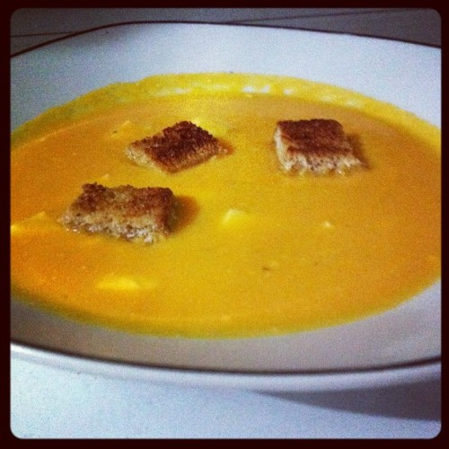 I made carrot soup/cream #soup #lunch #carrot #yummy #oldrecipe #food (Taken with Instagram)