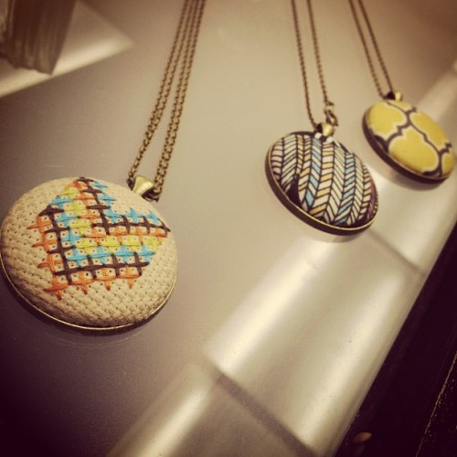Embroidered lovelies by @zelmarose #jewelry #fashion  (Taken with Instagram at 5titch)
