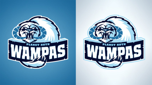 Planet Hoth Wampas Another new Star Wars inspired sports logo design. You can pick them up as prints, t-shirts, and various phone and laptop accessories at Society6… www.society6.com/wanderingbert