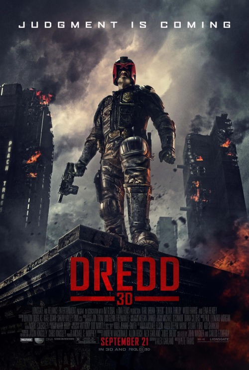FIRST LOOK: DREDD 3D POSTER