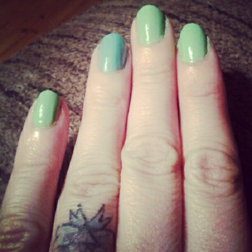 Mermaid nails (Taken with Instagram)