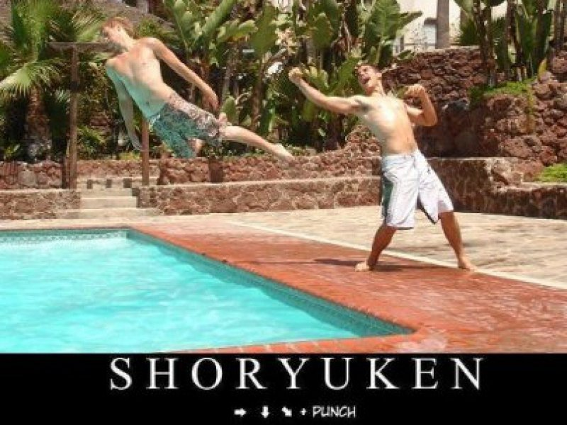 collegehumor:  Shoryuken IRL Life Imitates Video Games.
