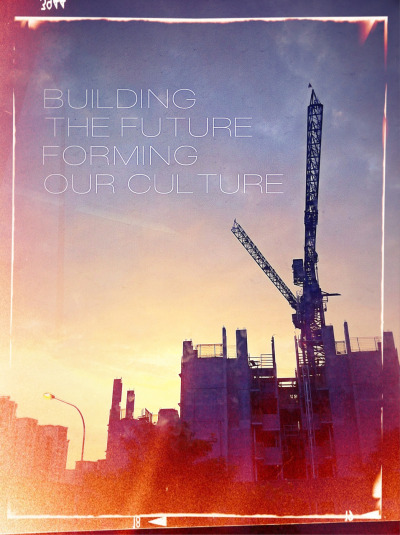 """Building The Future, Forming Our Culture"" ===== A morning snap in bus using iPhone4, enroute to work. Used app: PhotoToaster, Osmo Leaker, easyTITLER."