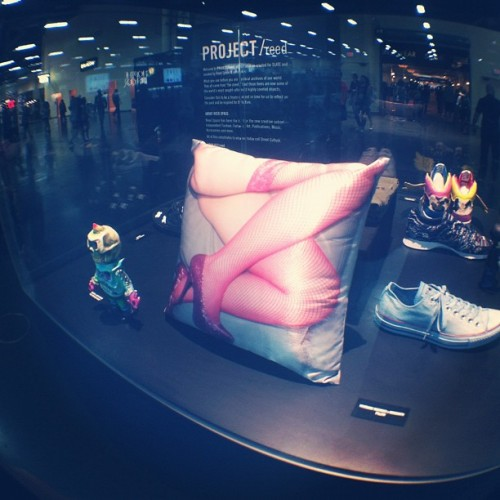 Rocksmith x @yone69harajuku collab pillow on display at project reed. #magic Las Vegas #explicitlife  (Taken with Instagram)
