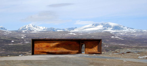 Wild Reindeer Foundation by Snohetta  The eye-catching building using the materials in such a beautiful way.. At least i would want to sit there forever and enjoy life