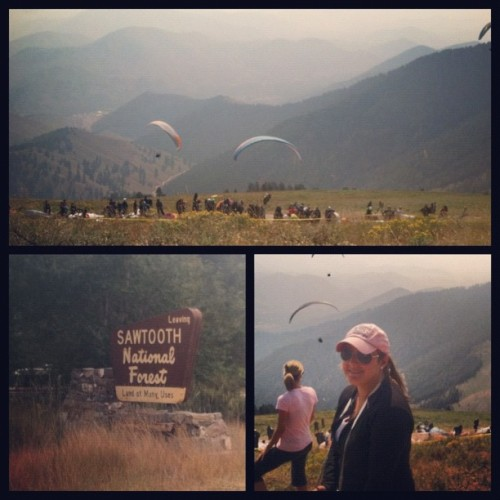 #today in a nutshell. #hiking #paragliding #photoadayaug  (Taken with Instagram at Sun Valley Resort)