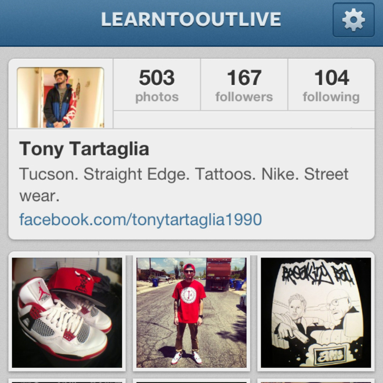 Follow me on instagram Learntooutlive