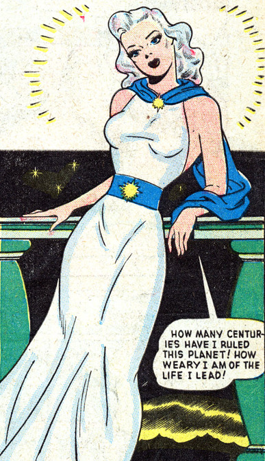 superdames:  Venus has grown weary of ruling her planet. —Venus #1 (1948)