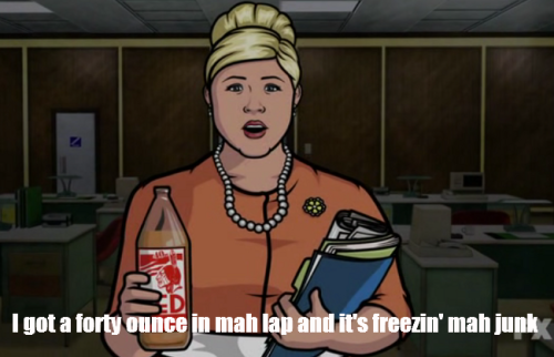 In less than a week I have watched every episode of Archer twice because winter break is all about being productive and oh my God this show is like the inside of my brain after four drinks.