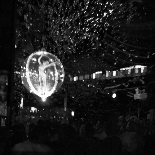 The incredible human hamster ball. Team bonding, circus style. (Taken with Instagram at Spiegelworld EMPIRE Times Square)