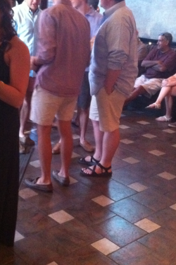 Look! Matching fratty pants! paired with our favorites, Chacos and Sperrys.