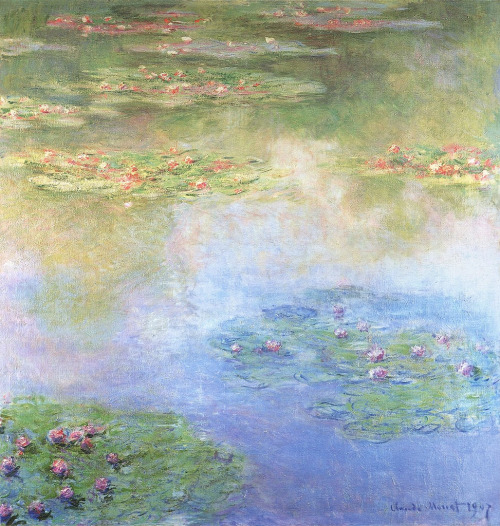 thefieldjournal:  water lilies, claude monet.