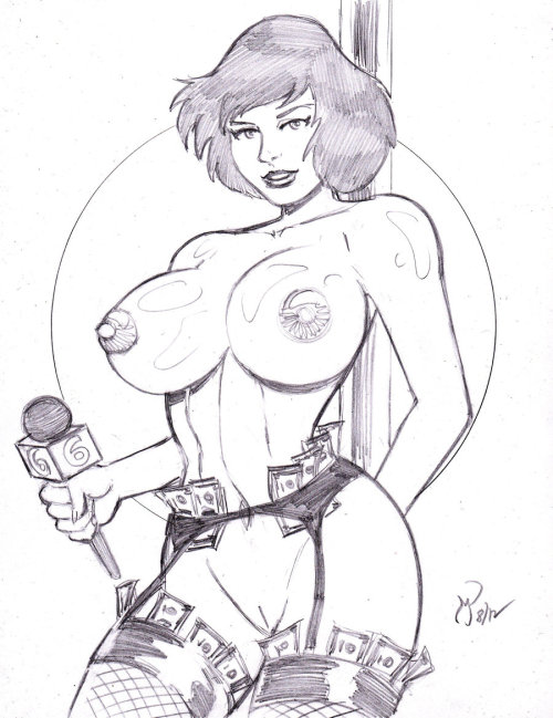 5 for $55 Special: Strippers (April O'Neil) by *MichaelPowellArt