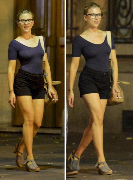 suicideblonde:  Scarlett Johansson out in Paris, August 19th