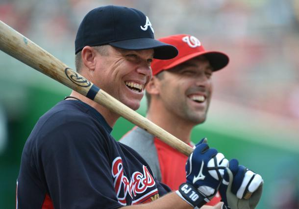 buenowaino:  Chipper Jones and Mark DeRosa - August 20, 2012