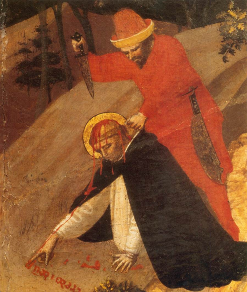 planetveil:  antitacta: Fra Angelico, Triptych of Saint Peter Martyr (detail), 1425. All for His glory.