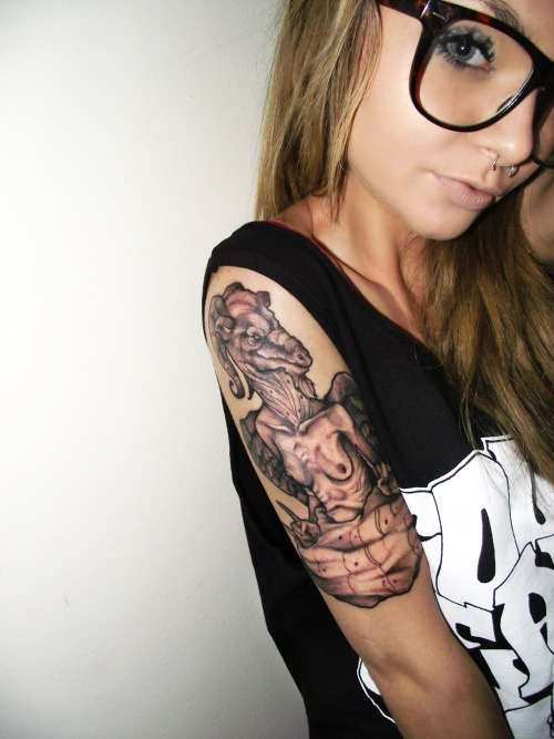 skyecompton:  potkitty:  What a horrendous tattoo for such a cute girly.  shut the fuck up